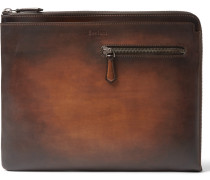 Au Grand Jour Polished-leather Portfolio