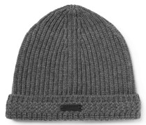 Aldergrove Ribbed Virgin Wool And Cashmere-blend Beanie