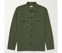 Jame Garment-Dyed Cotton-Poplin Field Jacket