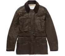 + Mackintosh Merlin Corduroy-trimmed Waxed-cotton Field Jacket