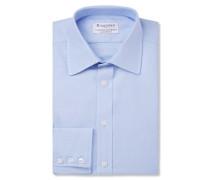 + Turnbull & Asser Blue Cotton Royal Oxford Shirt