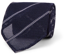 8cm Striped Silk Tie