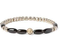 Gold, Diamond And Spinel Bead Bracelet