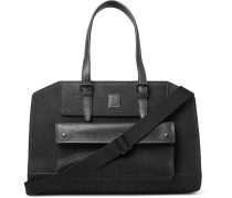 Tourmaster Leather-trimmed Burnished-suede Holdall