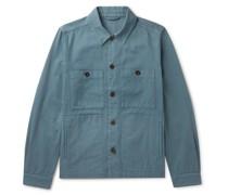 Garment-Dyed Cotton-Twill Overshirt