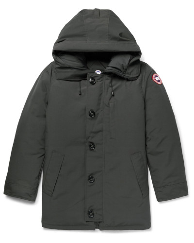 Chateau Shell Hooded Down Parka - Charcoal