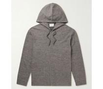 Cotton and Linen-Blend Zip-Up Hoodie