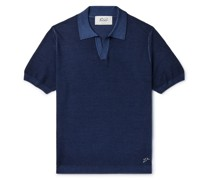 Wool and Silk-Blend Polo Shirt