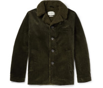 Brockwell Faux Shearling-Lined Cotton-Corduroy Jacket