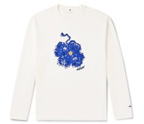 Logo-Embroidered Printed Cotton-Jersey T-Shirt