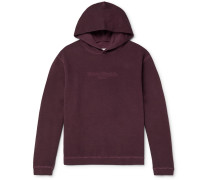 Oversized Logo-Embroidered Garment-Dyed Loopback Cotton-Jersey Hoodie