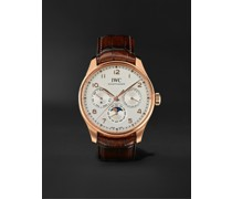Portugieser Perpetual Calendar Automatic 42.4mm 18-Karat Red Gold and Alligator Watch, Ref. No. IW344202