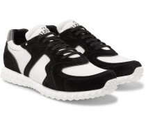 Valentino Garavani Suede And Mesh Sneakers
