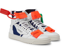 Low 3.0 Leather And Canvas High-top Sneakers