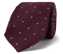 + Drake's 8cm Embroidered Wool and Silk-Blend Faille Tie