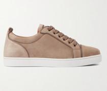 Louis Junior Orlato Grosgrain-Trimmed Suede Sneakers
