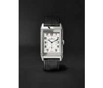 Reverso Classic Large Duoface Hand-Wound 28mm Stainless Steel and Leather Watch, Ref. No. JLQ3848420