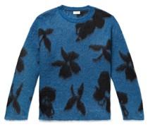 Mohair-Blend Jacquard Sweater