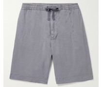 Phil Garment-Dyed Lyocell, Linen and Cotton-Blend Drawstring Shorts