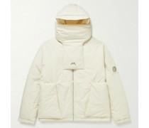 Cyclone Logo-Print Padded Cotton Hooded Jacket