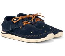 Maliseet Shaman-folk Beaded Suede Sneakers