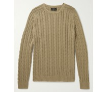 Cable-Knit Cotton and Hemp-Blend Sweater