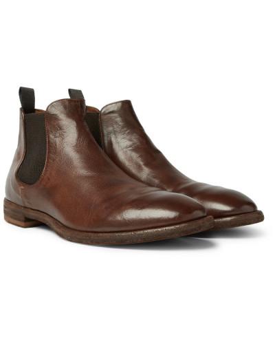 Officine Creative Italia Herren Princeton Burnished-leather Chelsea Boots