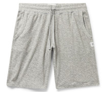 Textured Cotton-Blend Drawstring Shorts