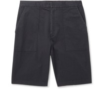 Paolo Garment-Dyed Cotton-Blend Shorts