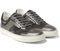 Suede, Nubuck And Metallic Leather Sneakers