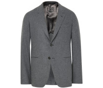 Grey Butterfly Slim-fit Wool And Cashmere-blend Blazer