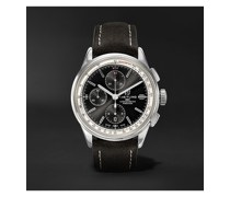 Premier Automatic Chronograph 42mm Stainless Steel and Nubuck Watch, Ref. No. A13315351B1X1