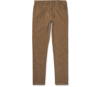 Skinny-fit Stretch-cotton Corduroy Trousers