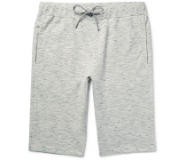 Moris Mélange Loopback Cotton-jersey Shorts
