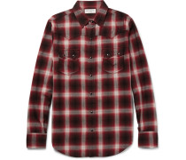 Nashville Slim-fit Checked Cotton-blend Flannel Shirt