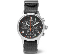 Scout Stainless Steel And Webbing Watch