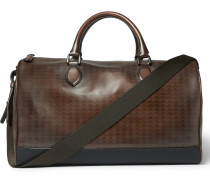 Jour-off Vitello Pythagora Patterned Leather Holdall