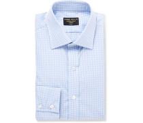Blue Gingham Cotton-poplin Shirt