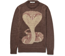 Cobra Jacquard-knit Mohair-blend Sweater
