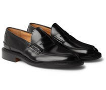 James Polished-Leather Loafers