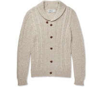 Jeffrey Cable-knit Mélange Alpaca-blend Cardigan