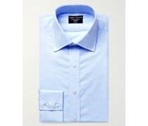 Cutaway-Collar Linen and Cotton-Blend Shirt
