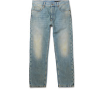 Faded Washed-denim Jeans