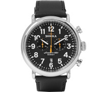 The Runwell 47mm Stainless Steel And Leather Chronograph Watch