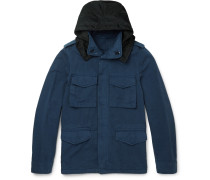Brushed Cotton And Linen-blend Field Jacket