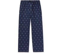 Logo-Print Cotton Pyjama Trousers