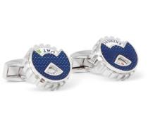 Wheel Of Fortune Rhodium-plated Rotating Cufflinks