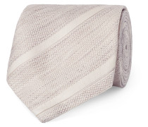 8cm Striped Linen And Silk-blend Jacquard Tie