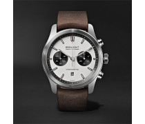 ALT1-C Automatic Chronograph 43mm Stainless Steel and Leather Watch, Ref. No. ALT1-C/WH-BK