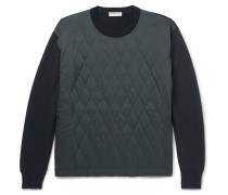 Quilted Shell And Wool-blend Sweater